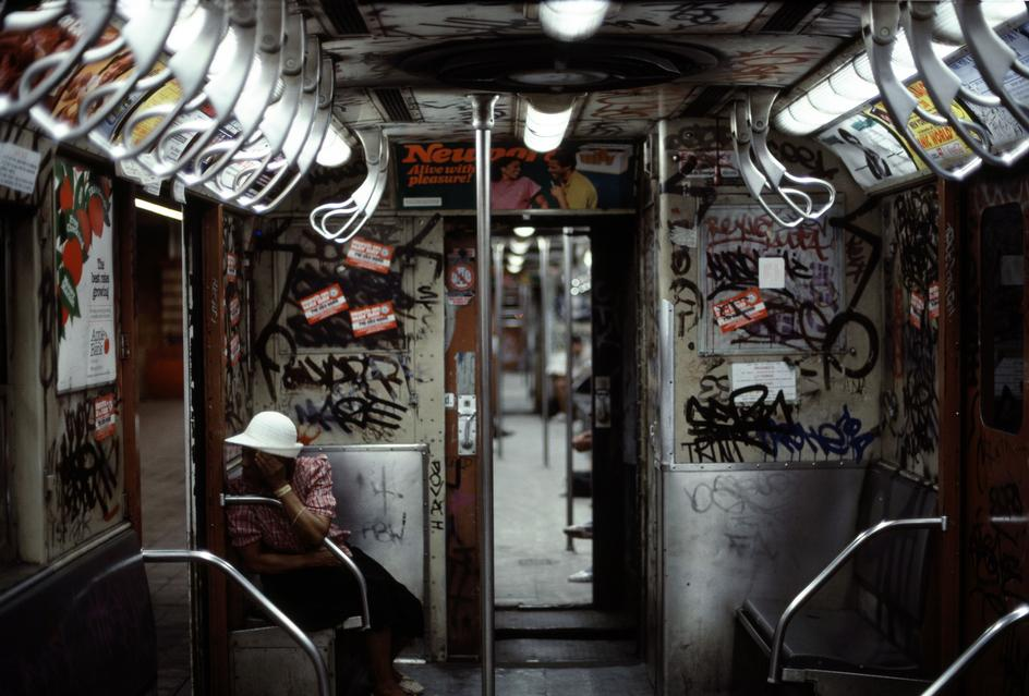 Photo:  1985 - Subway Train Interior